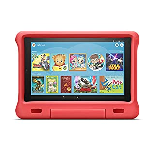 Kid-Proof Case for Fire HD 10 Tablet (Compatible with 7th and 9th Generations, 2017 and 2019 Releases), Red
