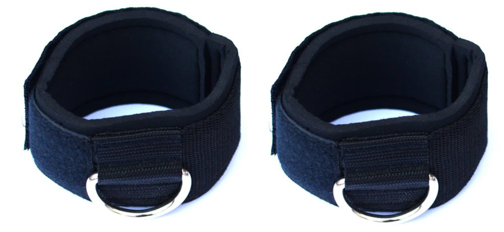 Lanyar Neoprene Padded Small Velcro Ankle Strap For Multi Gym Cable Attachments, S Size 1 Pair