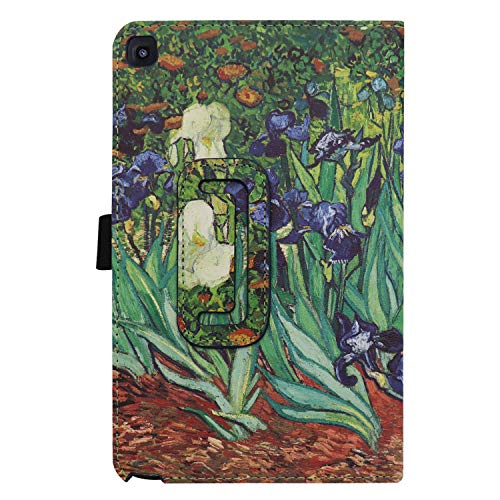 Ratesell Galaxy Tab A 8 (2019) Case, Multi-Angle Stand Slim-Book PU Leather Case Cover with Stylus Slot Holder Compatible with Samsung Galaxy Tab A 8 (2019) SM-P200 ; SM-P205 Iris