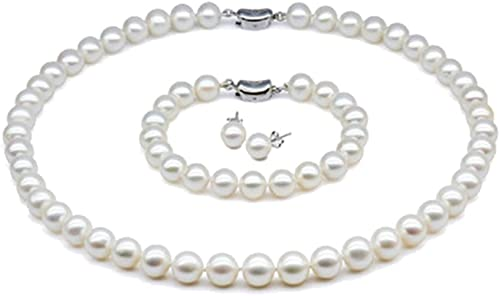 White 10-11mm AA Quality Freshwater Cultured Pearl Necklace for Women