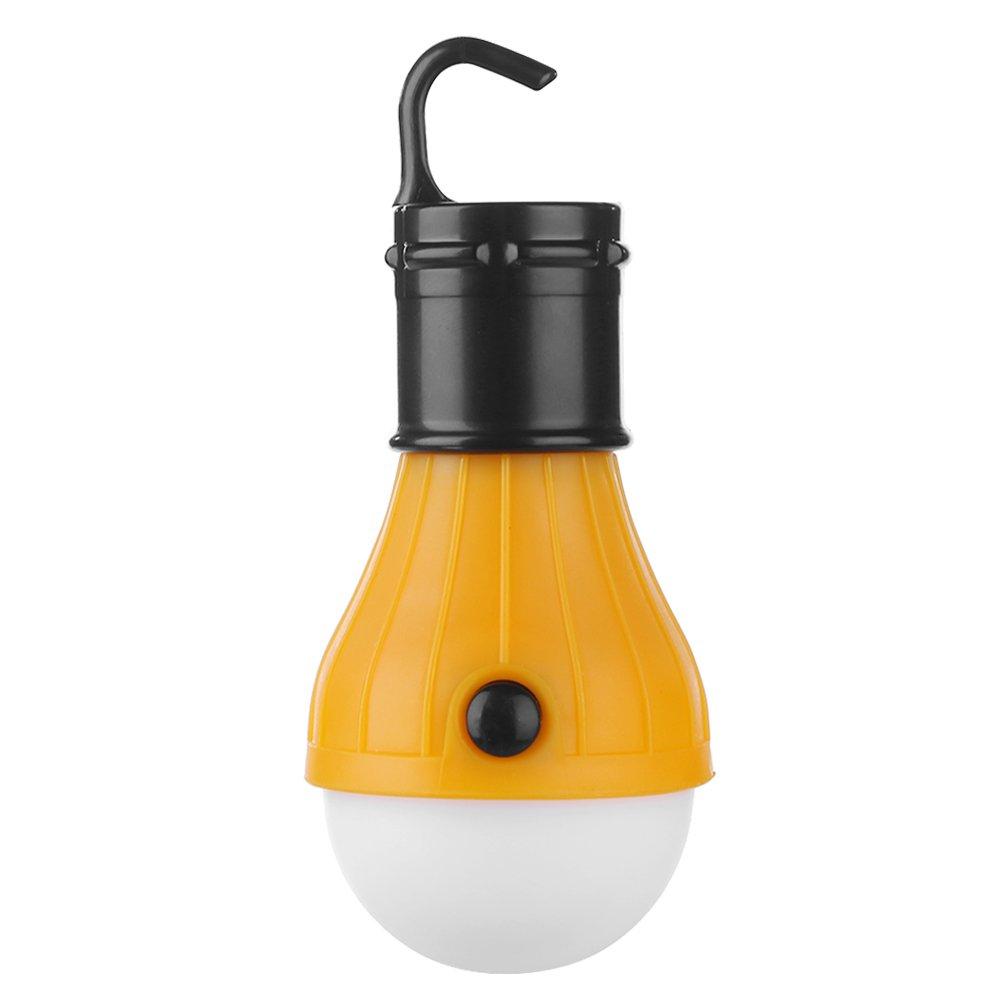 Domybest Tienda de Campaña Luz com 3 Modos Bombillas Exterior Luminosas, Bombillas a Pilas LED Bombilla de Emergencia para Uso Interior y Exterior, Impermeable (Azul)