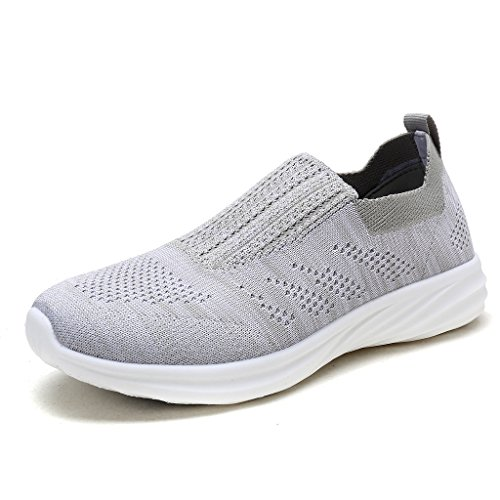 DREAM PAIRS Women's 171114-W Lt.Grey White Running Shoes Comfort Sneakers Size 5.5 M US