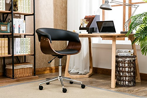 Porthos Home KCH012A BLK Liam Office Chair, Black (Industrial Task Chairs)