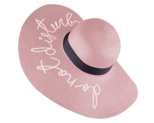 Women's Wide Brimmed Hats for Sun Protection Foldable Floppy Sun Hat light pink
