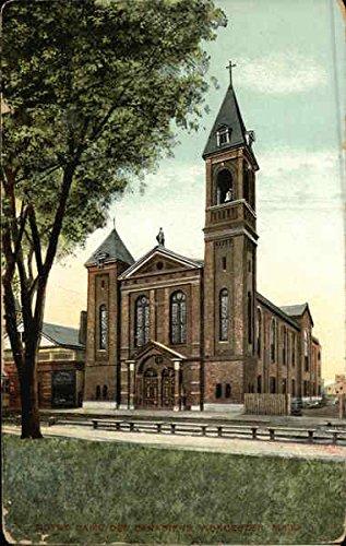 Notre Dame Des Canadiens Worcester, Massachusetts Original Vintage Postcard (Antique Worcester Massachusetts)