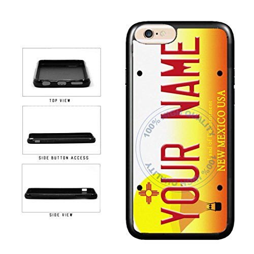 BleuReign(TM) Personalized Custom Name New Mexico State License Plate TPU Rubber Silicone Phone Case Back Cover for Apple iPhone 8 Plus and iPhone 7 Plus