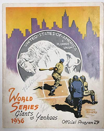 Babe Ruth Signed 1936 World Series Program. Yankees Vs Giants. JSA LOA from Brigandi Coins and Collectibles