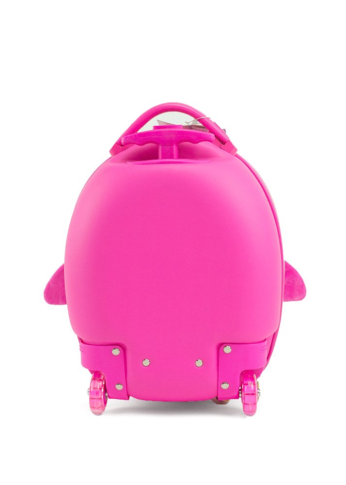 Cute Animal Travel Trolley Luggage for Kids - Pink Penguin by Kids Travel Boutique (Image #3)