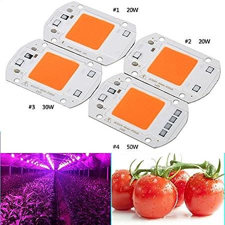 Zehui Full Spectrum LED COB Chip Grow Light Plant Growing Lamp Bulb 110V//220V 20W//30W//50W Plant Growth Lamp 110V 20W