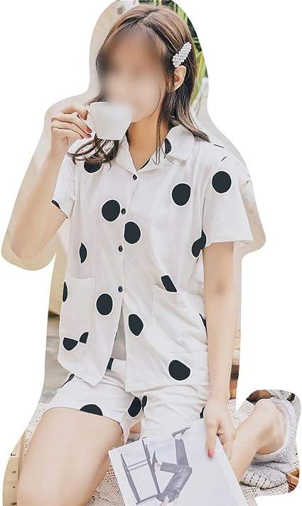 FANCYKIKI Conjunto de Pijamas de algodón de Lunares Sencillos ...