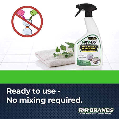 RMR-86 Instant Mold and Mildew Stain Remover Spray - Scrub Free Formula, Bathroom Floor and Shower Cleaner, 1 Gallon (128 Fl Oz)