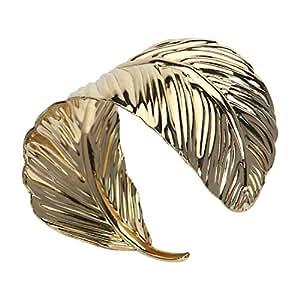 Amakando Brazalete Hoja Afrodita / Dorado / Pulsera Cleopatra egipcia / Ideal para carnavales y festividades