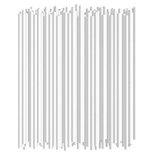 Disposable Drinking Straws - 7 3/4 Inches Long - Standard Size (White, 250) -