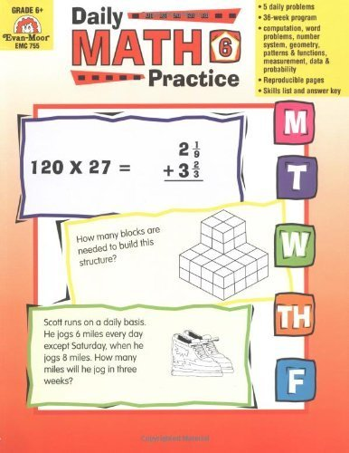 Daily Math Practice, Grades 6+ by Wes Tuttle (2014-01-01)