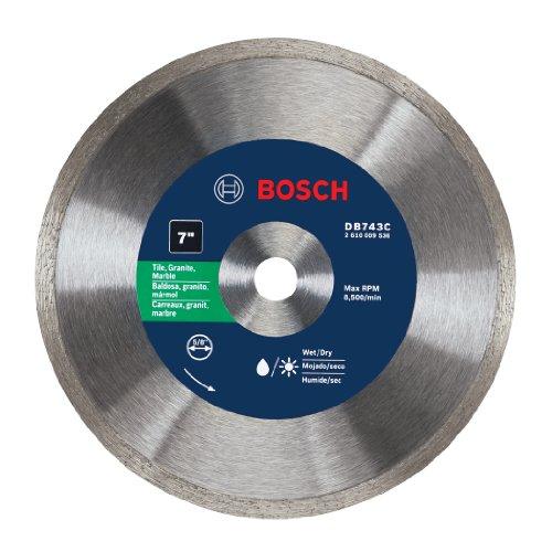 Bosch DB743C 7-Inch Premium Plus Continuous Rim Diamond Blade (Diamond Blade Plus Premium)