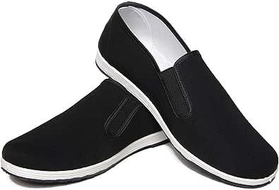 Unisex vechtsportschoenen Chinese Kung Fu-schoenen Oude Beijing Tai Chi-schoenen Zwarte rubberen zool