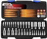 EPAuto 32 PCs Hex Bit Socket Set, SAE and