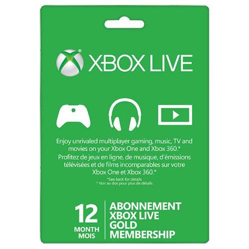 Get 12 Month Xbox Live Gold Membership cheaper | cd key ...