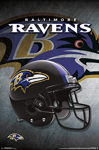 Trends International Baltimore Ravens-Helmet Clip Bundle Wall Poster, 22.375
