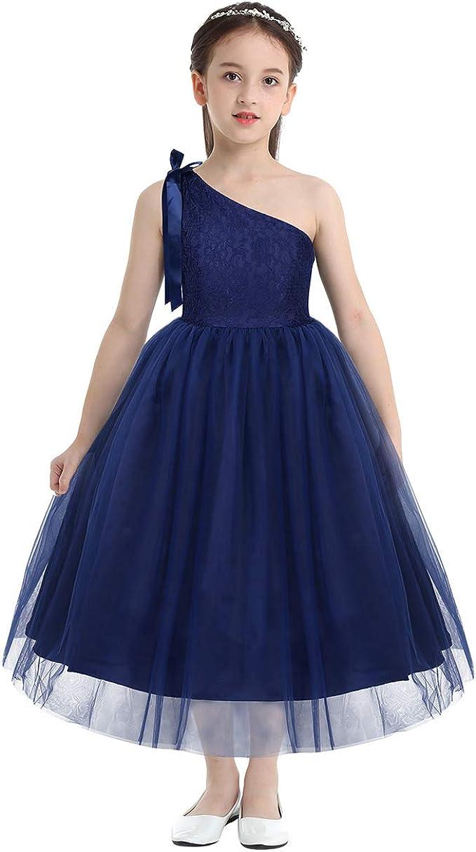 Freebily - Vestido para niña de Ceremonia, Elegante, sin Hombros ...