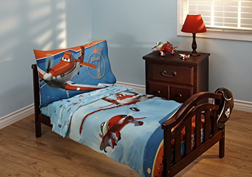 4 Piece Daybed Comforter - Disney Planes Let's Soar 4 Piece Toddler Bedding Set