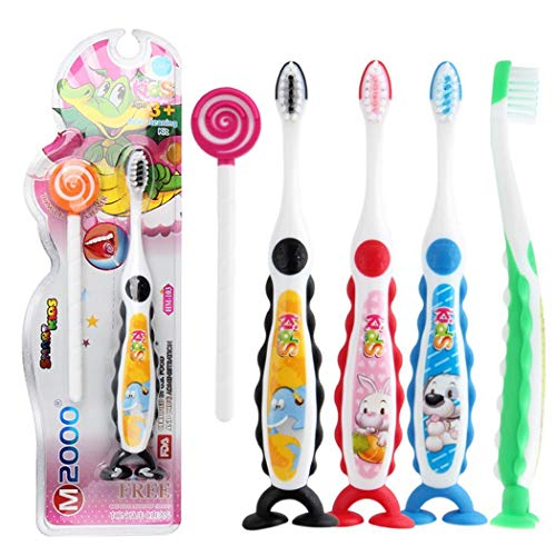 Pagacat Cartoon Handle Cute Kids Toothbrush Soft Hair Child Manual Toothbrushes