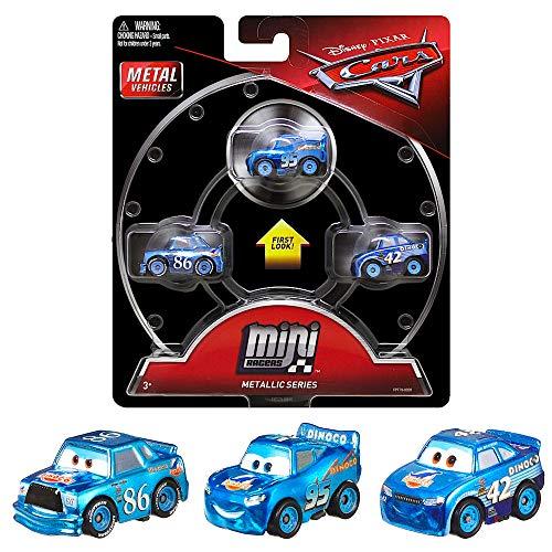 Mini Racers Metallic Dinoco Series Diecast 3-Pack Cars with Dinoco Chick Hicks