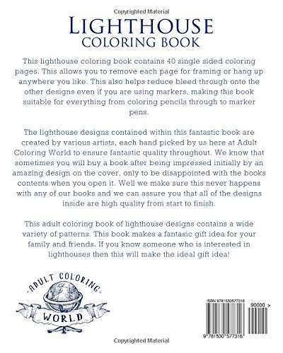 Lighthouse Coloring Book: 20 Lighthouse Designs in a Variety of ...