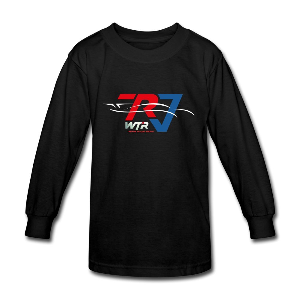 ATHLETE ORIGINALS Little Boys' Long Sleeve T-Shirt Wtr Racing Profile by Ricky & Jordan Taylor M Black