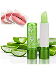 eshion Green Aloe Vera 100% Natural Lipsticks Color Mood Changing Long Lasting Moisturizing Lip Stick (1 count)