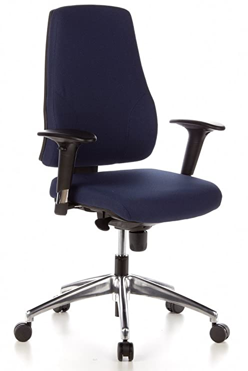 Hjh Office 608010 Profi Bürostuhl Pro Tec 200 Stoff Blau Drehstuhl Ergonomisch Arm Rückenlehne Verstellbar