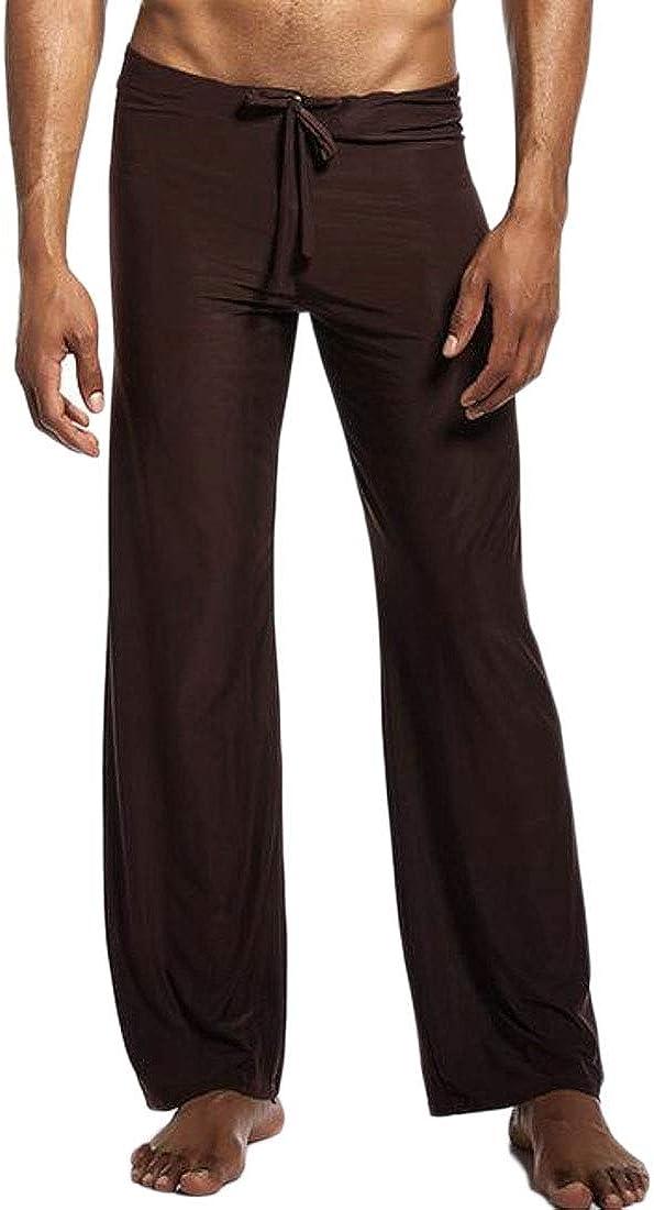 MMCP Men Casual Solid Plus Size Loose Fit Comfort Yoga Long Pants Pajamas Bottoms