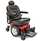 Pride Mobility - Jazzy 600 ES - Mid-Wheel Drive Power Chair - Jazzy Red