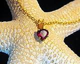 Natural Almandine GARNET AA grade 5x5mm heart shaped 14kt Gold-filled Necklace