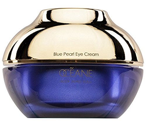 OCEANE Beauty Blue Pearl Eye Cream, Pearl Infused Moisturizer Formula for Reduced Puffiness & Improved Texture, Natural Luxurious Skin Care for Age-Defying Results OC11