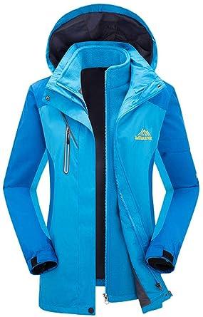 AbelWay Women s Mountain Waterproof Detachable Fleece 3 in 1 Jacket Ski  Hooded Rain Coat(Light 40df28bf7