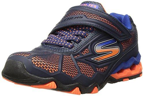 Skechers Kids Boys' Hydro-Static Sneaker, Orange/Navy, 2 Medium US Little ()