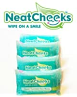 The Original NeatCheeks Natural Flavored Baby Face Wipes for Sensitive Skin - As seen on SHARK TANK! 12 Count Travel Packs (Case of 4)
