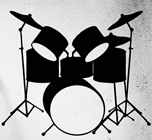 Drums Musical Instruments Music Rock Pop Transfer tattoos tattooing temporary tattoos Cute Face stickers]()