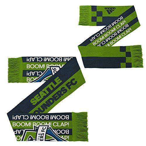 MLS Seattle Sounders FC Youth Boys Fan Stripe Scarf, 1 Size, Rave Green