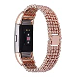 Alonea Steel Bead Style Bracelet Smart Watch Band Strap For Fitbit Charge 2
