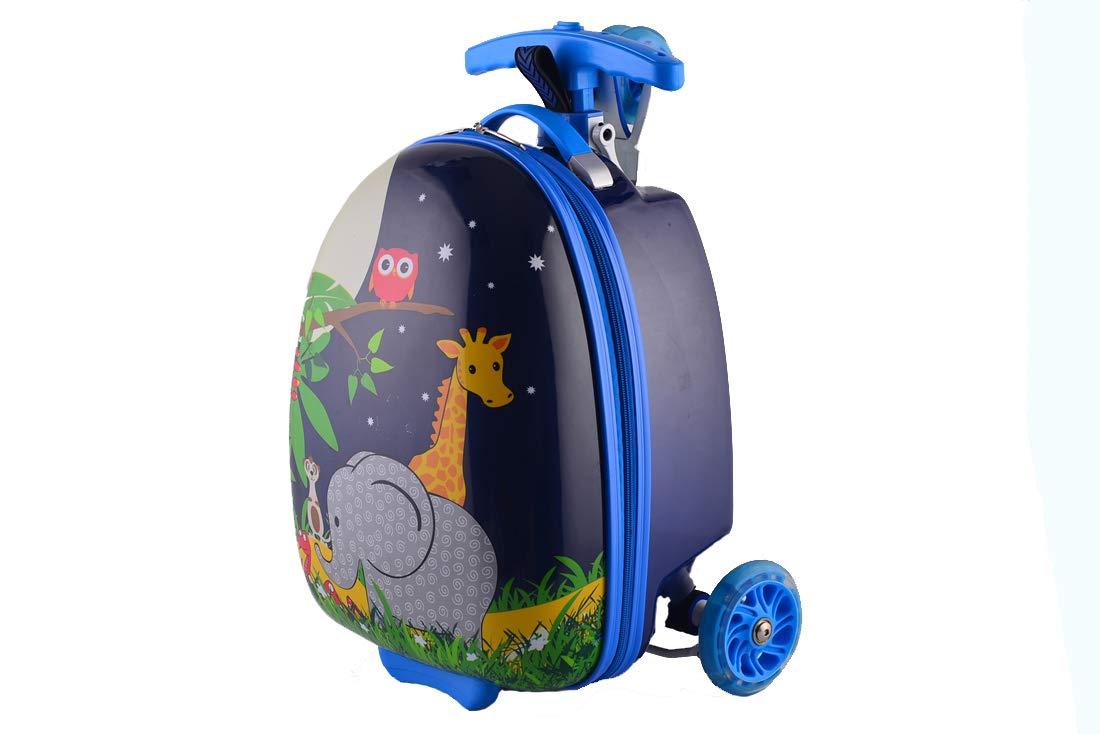 キッズの荷物トロリーバッグスクーターハードシェルスーツケーススクールバッグ16インチ  2 B07HFD8HVR