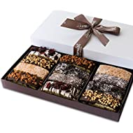 Barnett's Gourmet Chocolate Biscotti Gift Basket, Christmas Holiday Him & Her Cookie Gifts, Prime Unique Corporate Men Women Valentines Mothers Fathers Day Baskets Thanksgiving Birthday Get Well Idea