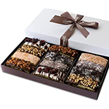 Barnett's Gourmet Chocolate Fathers Day Biscotti Gift Basket, for Him Her Man Woman Unique Corporate Get Well Mothers Birthday Baskets Gifts Idea for Thanksgiving Christmas Holiday – 6 Flavors
