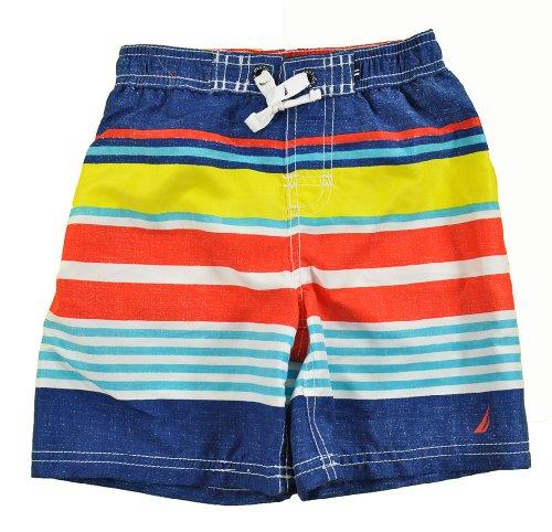 Nautica Toddler Boys Multi Color 2pc Rash Guard Swim Short Set (4T)