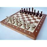 ChessEbook Tournament No. 4 A - Ajedrez de Madera, Tablero de 40 x 40 cm