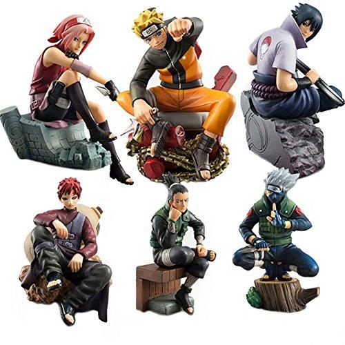 10 Naruto Action Figure (ATOROR Naruto Action Figures Set-Naruto/Sasuke/Sakura/Kakashi/Shikamaru /Gaara Hokage Dolls)