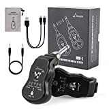 Donner Black MW-1B Rechargeable UHF Wireless Guitar System with Multifunction 5 Modulation Effects