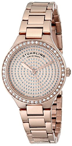 Stuhrling Original Women's 683.04 Symphony Swiss Quartz Crystal Dial Rosetone Watch