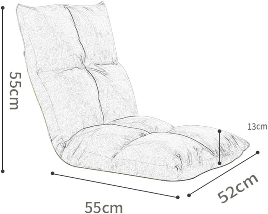 CYQ Floor chair Game seat Floor chair, Lazy adjustable folding sofa Home Office Meditation Reading TV Watching the game, GlassYellow Graysquare